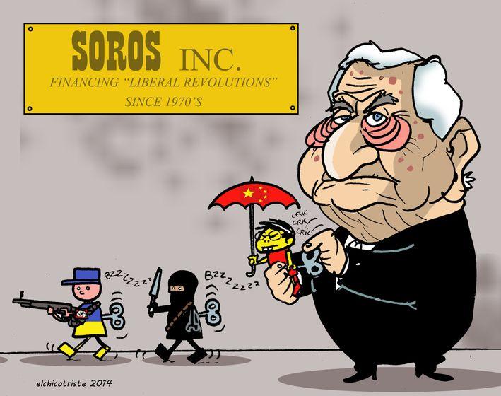 Afbeeldingsresultaat voor george soros cartoon